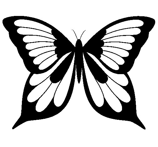 Dibujo de Mariposa 8 para Colorear