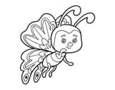 Dibujo de Mariposa coqueta
