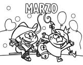 Dibujo de Marzo