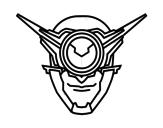 Dibujo de Máscara cíclope para colorear