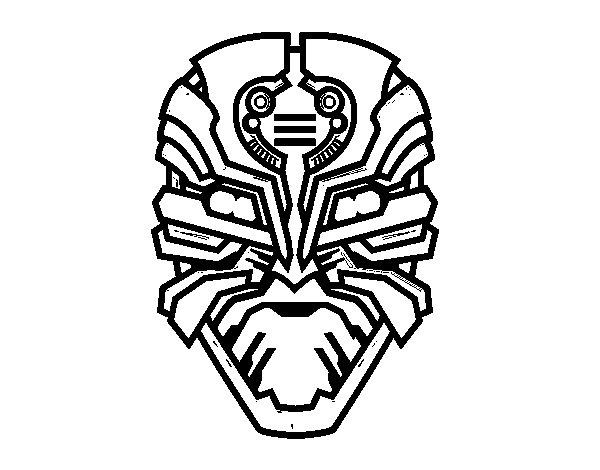 Dibujo de Máscara de robot alien para Colorear