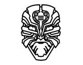 Dibujo de Máscara de robot alien