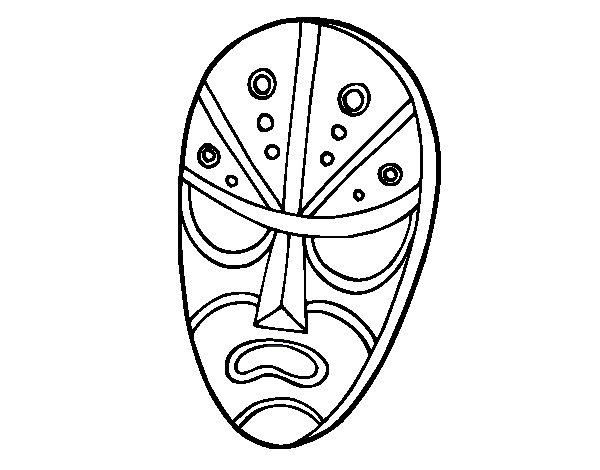 Dibujo de Máscara enfadada para Colorear
