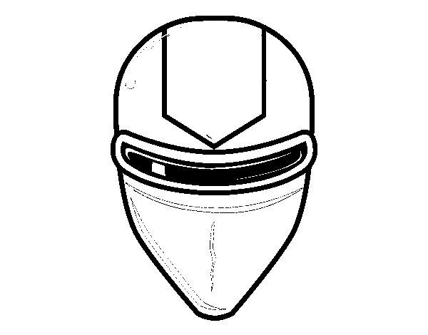 Dibujo de Máscara gafas rayo láser para Colorear
