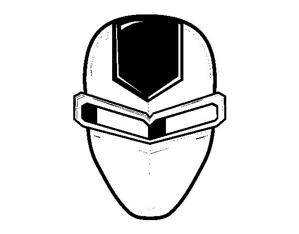 Dibujo de Máscara ironman para Colorear
