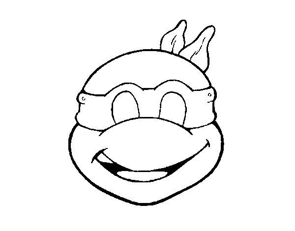 Dibujo de Máscara Tortuga ninja para Colorear