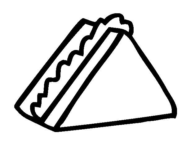 Dibujo de Medio sandwich para Colorear - Dibujos.net