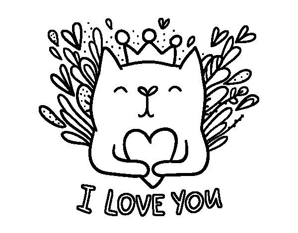 Dibujo de Mensaje de Amor para Colorear - Dibujos.net
