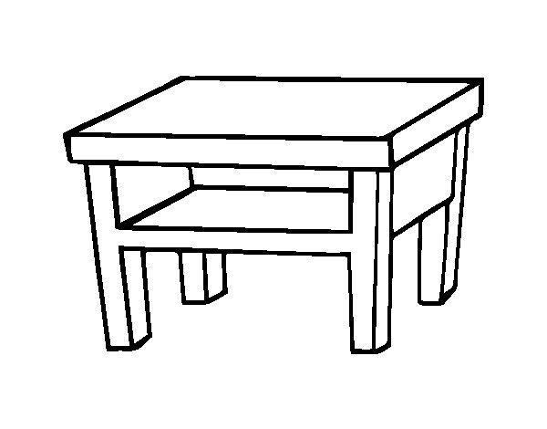 Dibujo de Mesa de salón para Colorear - Dibujos.net