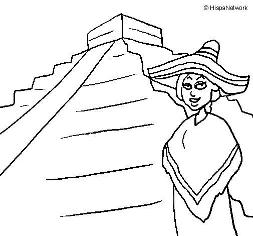 Dibujo de México para Colorear