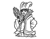 Dibujo de Militar chino Kong Ming para colorear