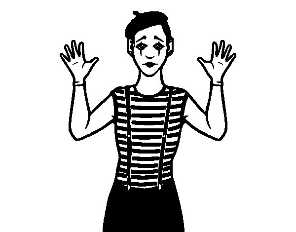 Mime Coloring Pages