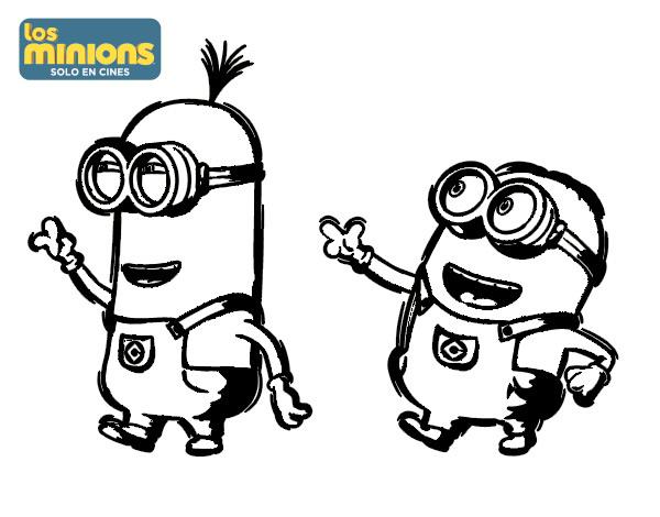 Dibujo de Minions   Tom y Dave para Colorear   Dibujos.net