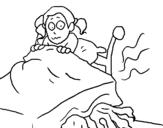 Dibujo de Monstruo debajo de la cama para colorear