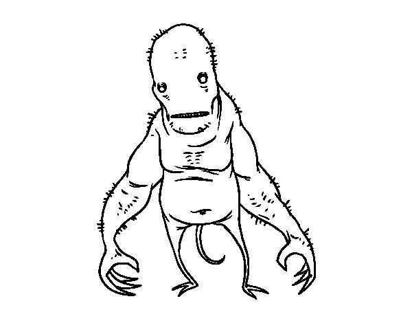 Dibujo de Monstruo súper feo para Colorear