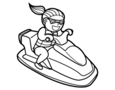 Dibujo de Moto de agua para colorear