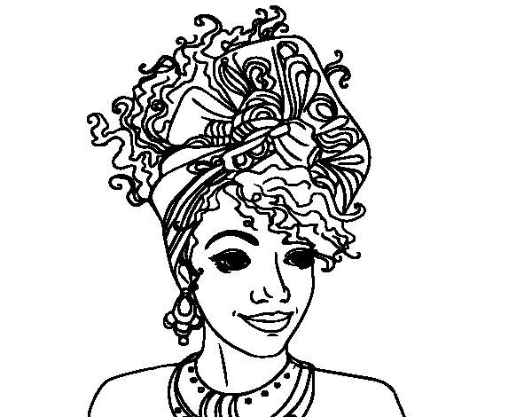 Dibujos De Africanas Para Pintar. Cool Mujeres Africanas Mencin ...