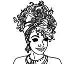 Dibujo de Mujer africana para colorear