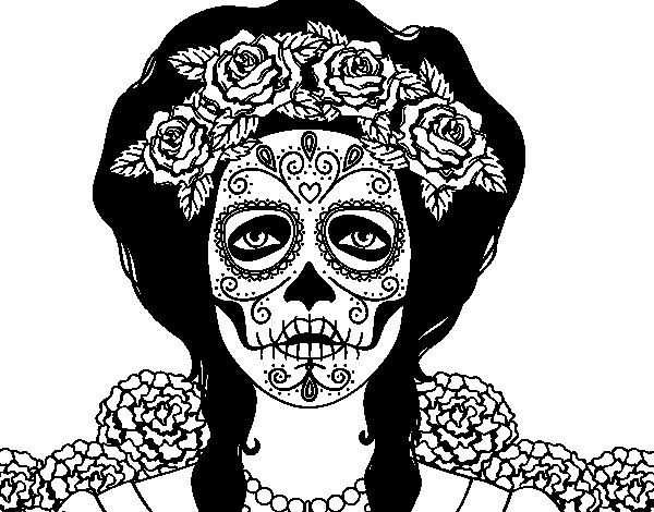 Dibujos De La Mujer Maravilla Para Colorear E Imprimir: Calaveras Para Colorear Mujer