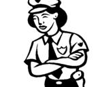 Dibujo de Mujer policía para colorear