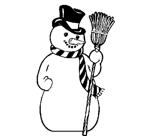Dibujo de Muñeco de nieve para Colorear
