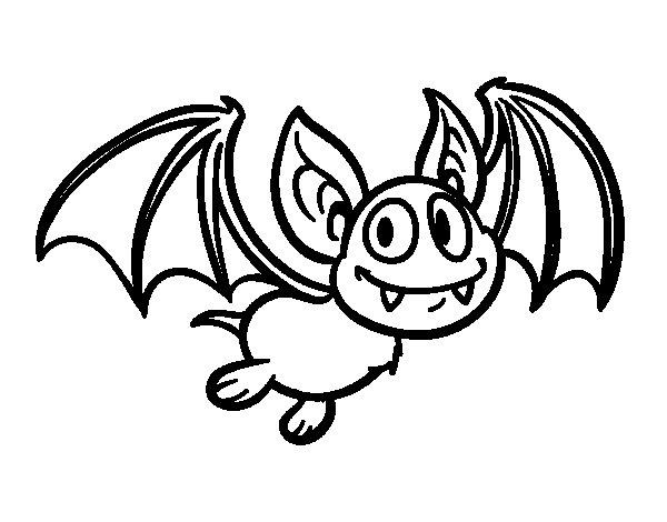 Dibujo de Murciélago - vampiro para Colorear