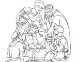 Dibujo de Nacimiento para colorear