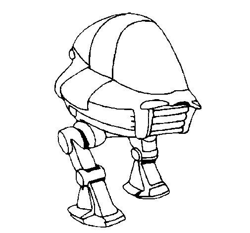 Dibujo de Nave con patas para Colorear