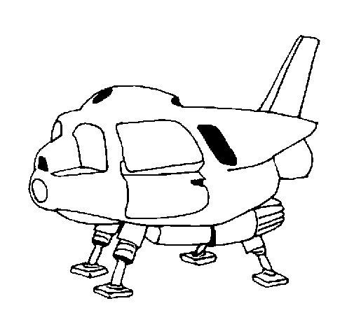 Dibujo de Nave espacial para Colorear