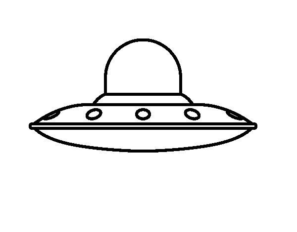 Dibujo de Nave espacial invasora para Colorear