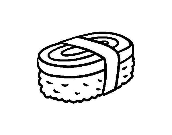 Dibujo de Niguiri de tortilla para Colorear