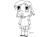 Dibujo de Niña con uniforme