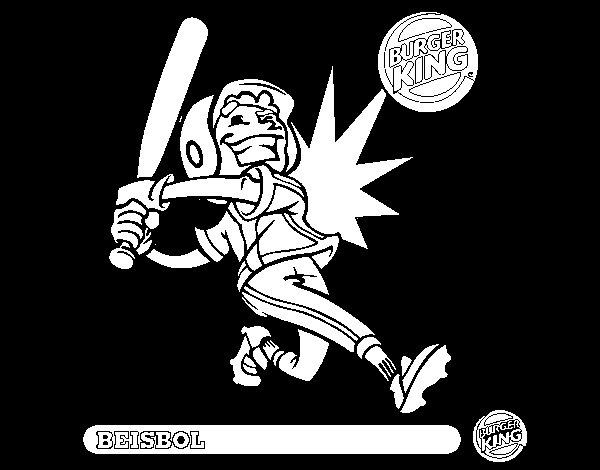 Dibujo de Niño-beisbol para Colorear