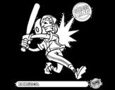 Dibujo de Niño-beisbol