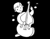 Dibujo de Niño con violonchelo