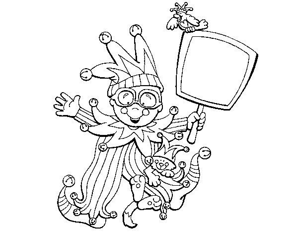 Dibujo de Niño de carnaval para Colorear