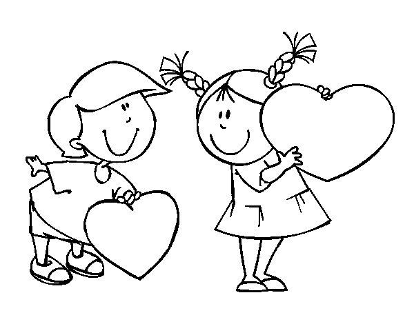 Dibujo de Niño enamorado para Colorear - Dibujos.net