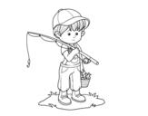 Dibujo de Niño pescador