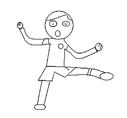 Dibujo de Niño saltando para Colorear