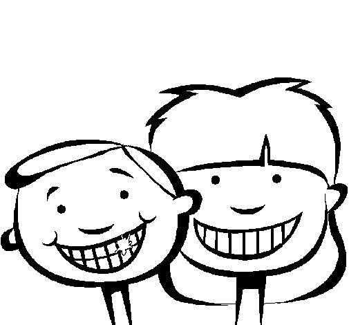 Dibujo de Niños con dientes sanos para Colorear