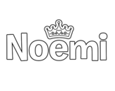 Dibujo de Noemi para colorear