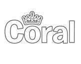 Dibujo de Nombre Coral para colorear