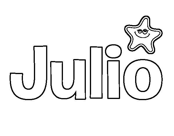 Dibujo de nombre julio para colorear - Nombres de ninos para colorear ...