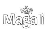 Dibujo de Nombre Magali para colorear