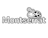 Dibujo de Nombre Montserrat para colorear