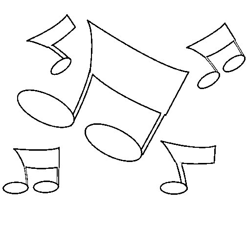 Dibujo de Notas musicales para Colorear