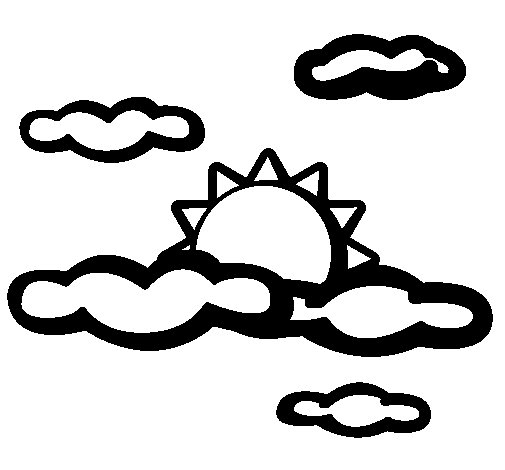 Dibujo de Nublado para Colorear
