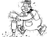 Dibujo de Obrero