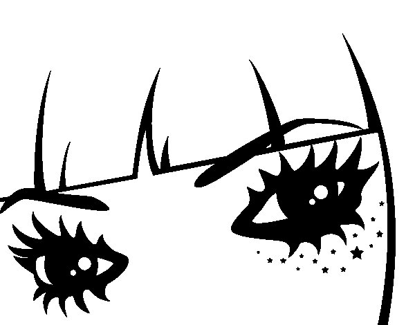 Dibujo de Ojos Emo para Colorear