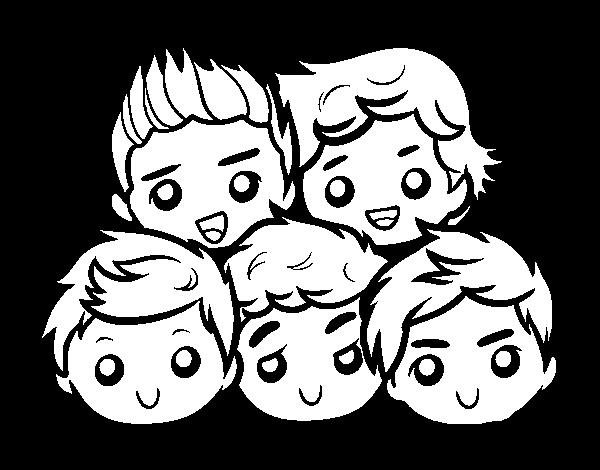 Dibujo de One Direction 2 para Colorear - Dibujos.net